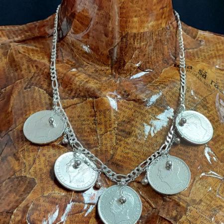 Salba Traditionala cu Globurele - bijuterii Salba Mariei din argint