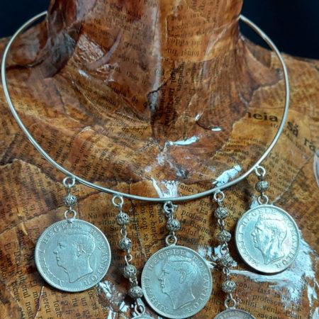Salba Dacică cu Globurele - bijuterii din argint Salba Mariei